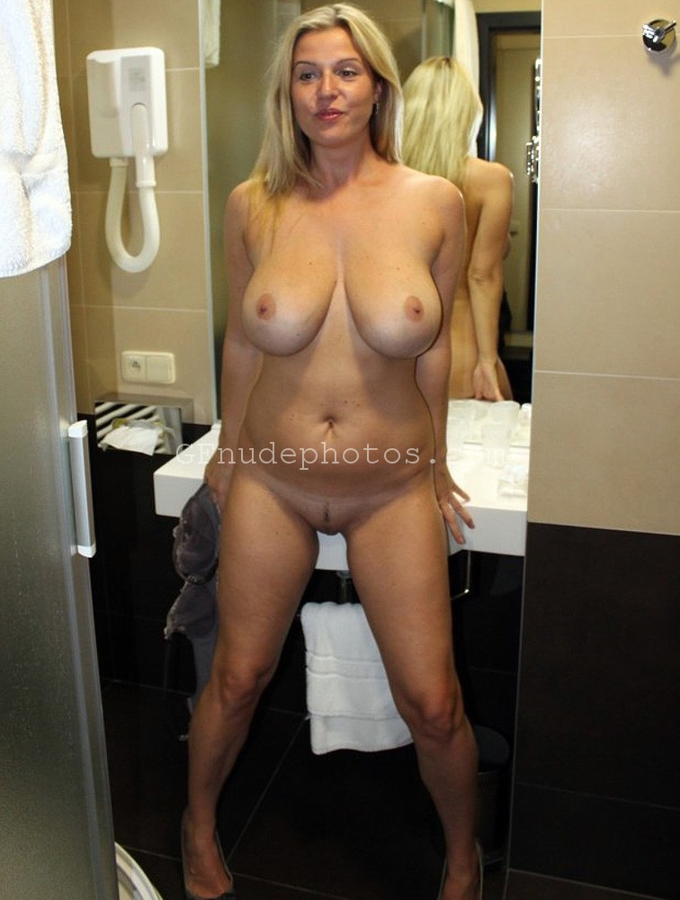 horny milf naked nude topless in bathroom