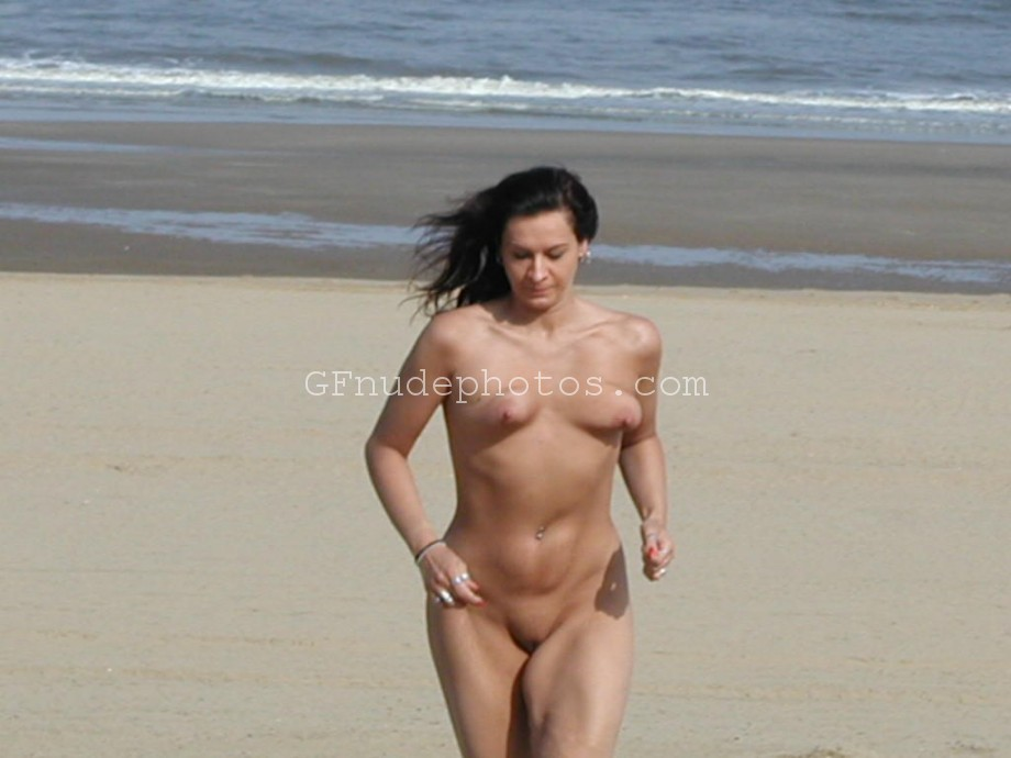 My mature sexy German wife naked on the beach showing shaggy boobs and fucked up pussy
